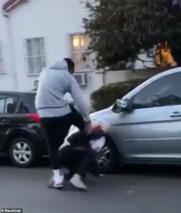 He shared a video on his Instagram story Saturday morning before the assault video was released, claiming the man destroyed his car so he attacked him and that his attack wasn't motivated by the protest