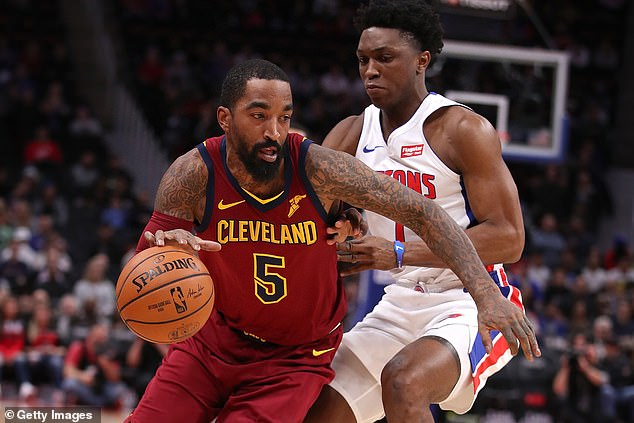 Smith pictured playing for the Cleveland Cavaliers in November 2018 in a game against the Detroit Pistons
