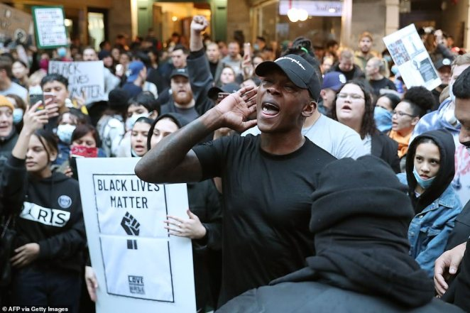 UFC Middleweight championIsrael Adesanya was vocal in the crowd in Auckland during Monday's demonstration