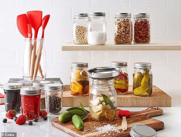 The new range also includes silicone cooking utensils and mason jars from $3.99
