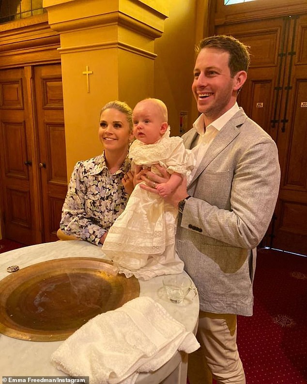 Another bub on the way: Three weeks ago, Emma confirmed she was pregnant with her second child. She told The Daily Telegraph:We're absolutely delighted and feel very lucky' (Pictured: Emma and Charlie with their son one-year-old son William)