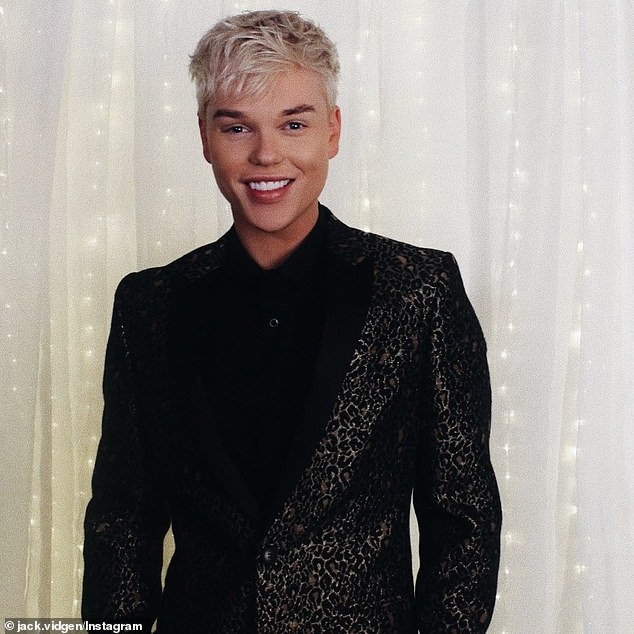 Solidarity: Jack Vidgen (pictured) shared a plain black square on their Instagram feed on Tuesday to support the Black Lives Matter movement following the death of George Floyd in the US