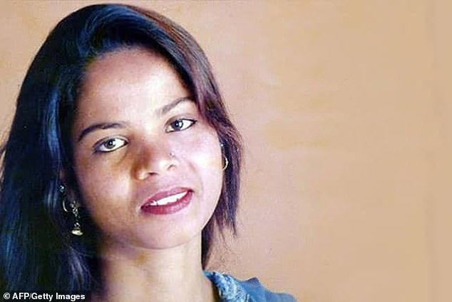 The photo of the date-out leaflet released in 2018 shows a portrait of Asia Bibi, who was released from blasphemy in 2018