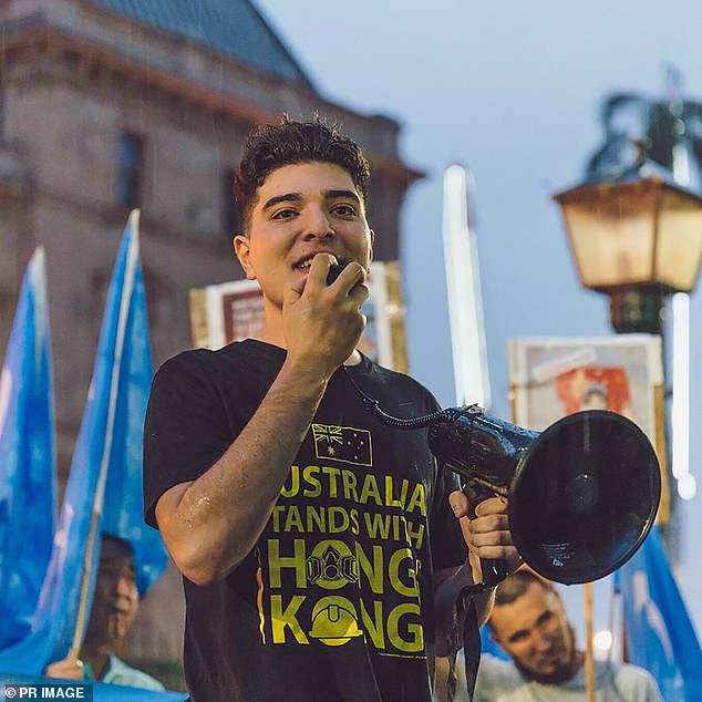 UQ rejected claims by Mr Pavlou (pictured) that his suspension was politically motivated