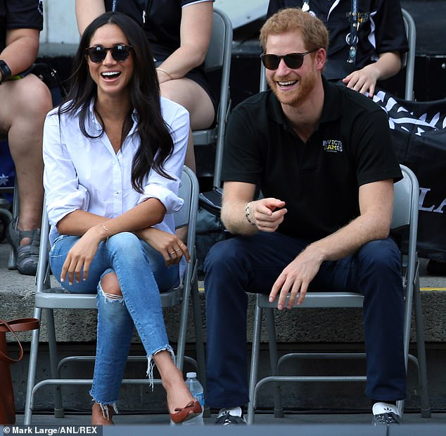 Speaking at Vanity Fair today, a friend said the Duchess looked `` less restrained '' and more like she did before joining the royal family. In the photo, Harry and Meghan at the Invictus Games in Toronto in September 2017, two months before announcing their engagement
