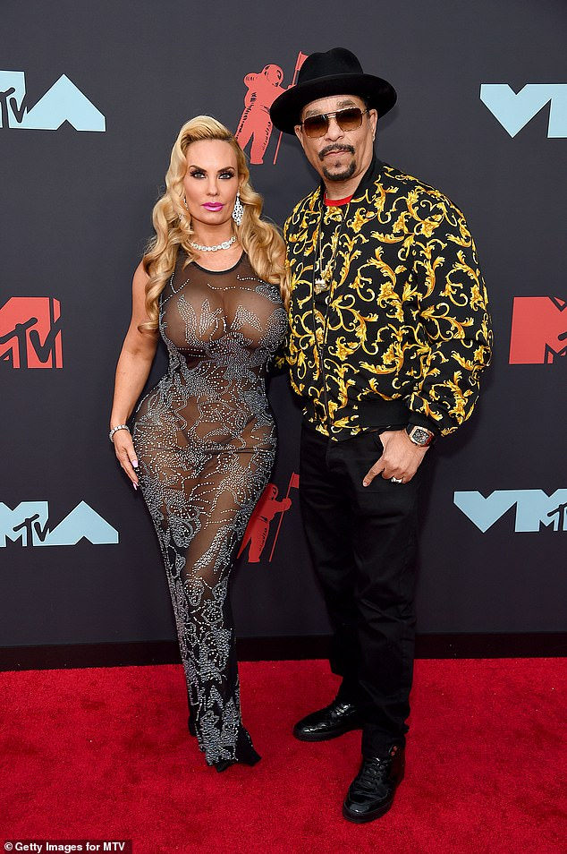 Happy couple: Pin-up model Austin - real name Nicole Natalie Marrow - has been married for 19 years to Chanel's father, rapper turned Law & Order: Special Victims Unit actor Ice-T (photo d 'August 2019)