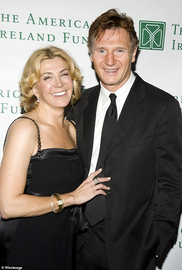 Tragic:Kitty's passing comes 11 years after Liam's wife Natasha Richardson tragically died in a skiing accident in Canada (pictured in 2008)