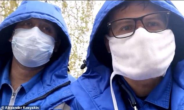 Alexander Shulepov (left) also suffered severe head injuries after falling from a hospital window after criticising the Russian government's response to coronavirus