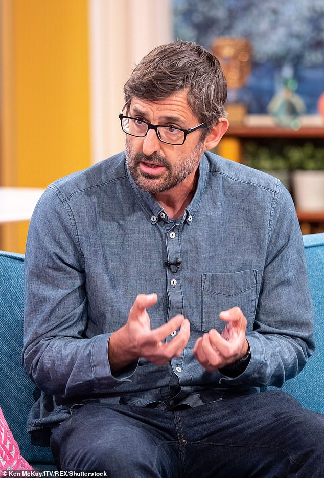 The Harry Potter actress made the comments while speaking on this week's Grounded With Louis Theroux podcast. Pictured, Louis Theroux on This Morning, London, May 9, 2019
