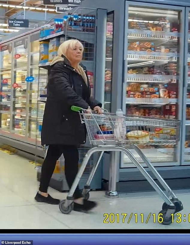 Christina Pomfrey from Palacefields, Runcorn, was caught on camera shopping despite claiming to be totally blind and confined to a wheelchair
