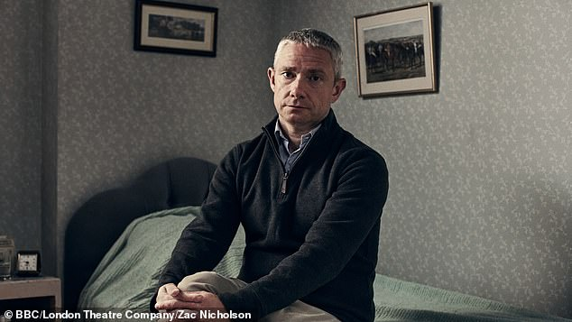 Spoiler: A different first look sees Martin Freeman, who will play in A Chip In The Sugar, initially interpreted by creator Alan Bennett in 1988, pretending to be his character Graham