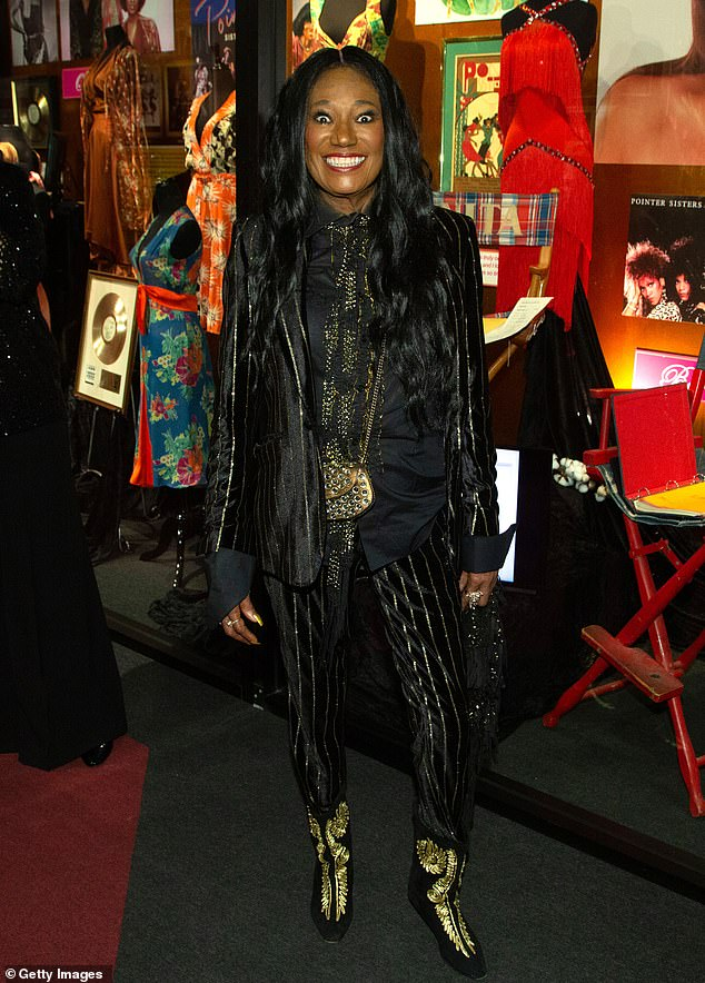 Most recent: the hit maker saw the Hollywood Museum's A Pointer Sister Ever After exhibit in June 2019