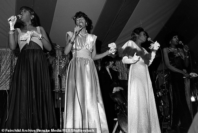 Started young: She was one of the first members of the Pointer Sisters.  Seen here with sisters Anita, June and Ruth in Los Angeles, California in 1974