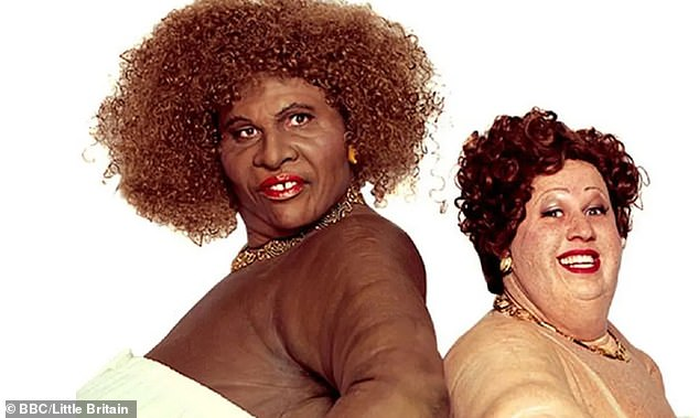It stems from a number of broadcasters reviewing its content, with Little Britain (pictured) removed from Netflix, BBC iPlayer and BritBox due to racism