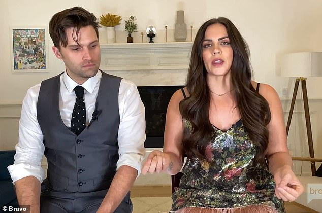 Boyfriend drama: `` You defended him aggressively against us, then acted like we were crazy, '' Katie Maloney-Schwartz told Kristen about her ex-boyfriend Brian Carter when '' she described her grievances with her