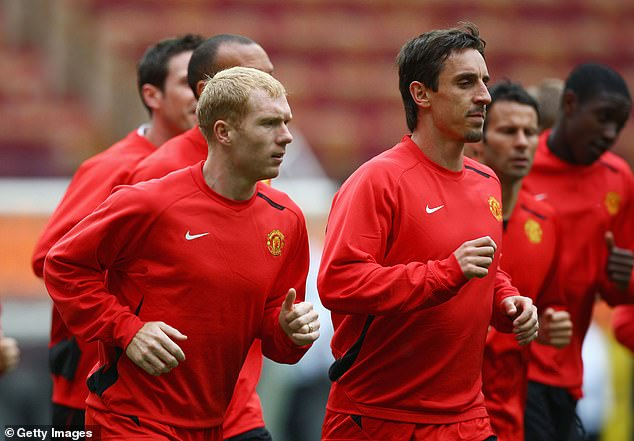 The United team was filled with fierce competitors at the time, such as Paul Scholes and Gary Neville