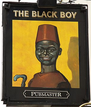 The sign for the Black Boy pub in Retford, Nottinghamshire
