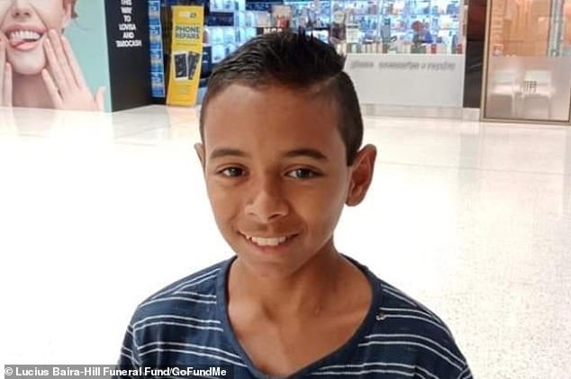Lucius, 13, died after the allegedly stolen car he was a passenger in hit a light pole in Townsville, Queensland