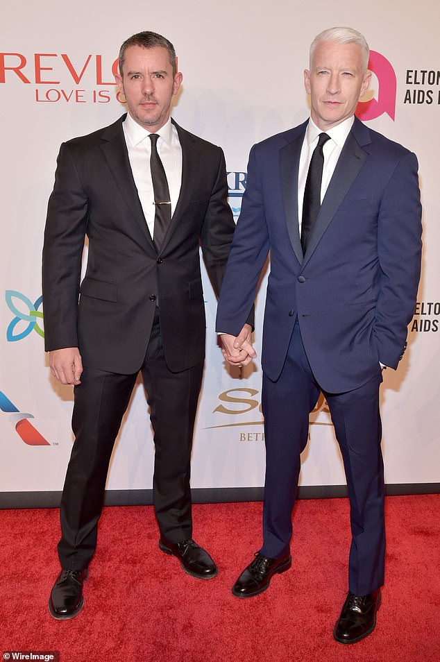 Co-parents: Cooper explained why he brought in ex-boyfriend Benjamin Maisani to co-parent his son, so Wyatt would be `` surrounded by love '' (Cooper and Maisani in 2015)