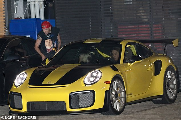 What a nice guy! Harry made sure to say goodbye personally after Caitlyn and Sophia jumped into their yellow Porsches