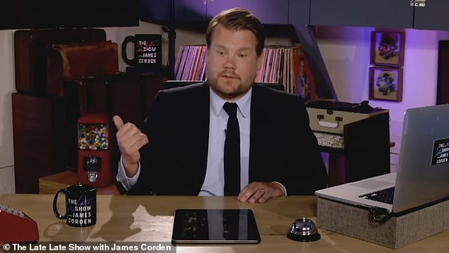 Dispute: Critics are calling for the popular comedy, written by James Corden (pictured) and Ruth Jones, to be pulled in the wake of the Black Lives Matter movement