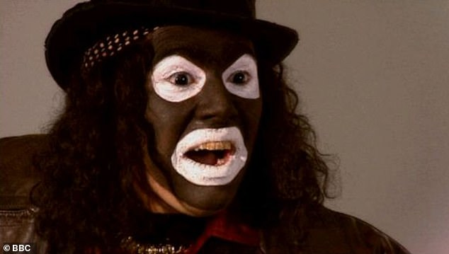 Delete! The League of Gentlemen has been pulled from Netflix for its blackface character Papa Lazarou [pictured]