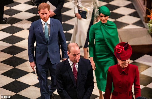 Duncan Larcombe, a former British royal publisher, told New magazine, via OK! , that Kate is `` very eager '' to prevent comparisons between her and her sister-in-law (pictured with their husbands in March 2020)