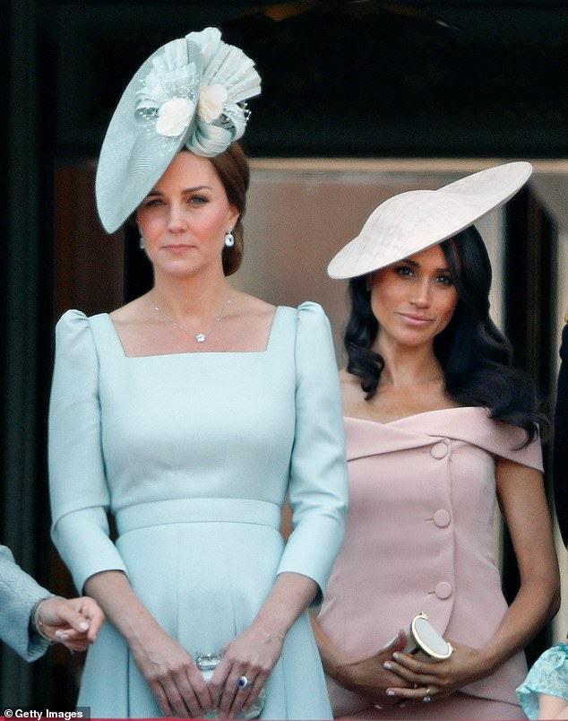 Kate, 38, is said to be considering legal action against the magazine `` Bible Society '', Kensington Palace claiming that it contains a `` bunch of inaccuracies and misrepresentations ''. Pictured: Kate with Meghan in 2018