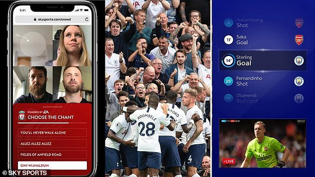 Sky is offering viewers the chance to watch the game in a group discussion and choice of songs