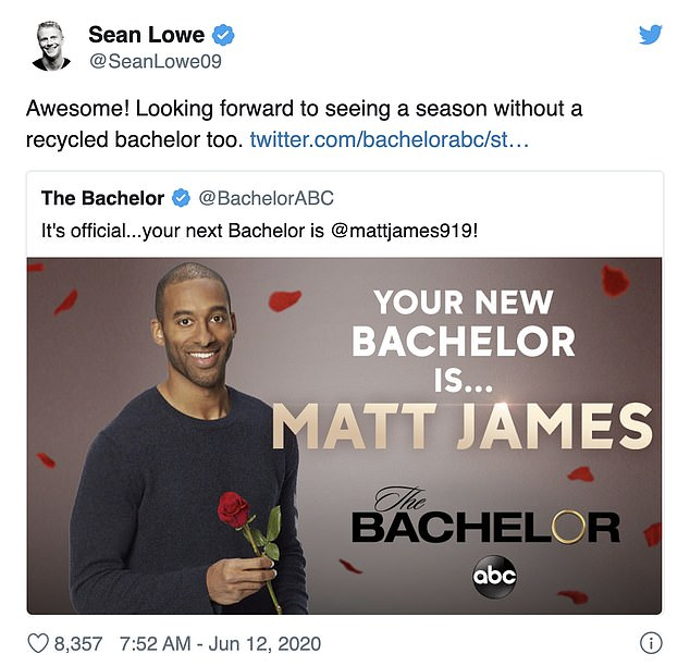 New direction: Former Bachelor Sean Lowe was happy to hear the news