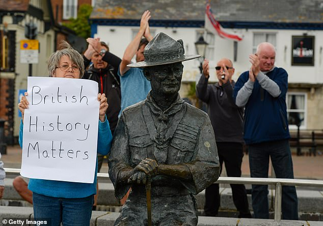Mr Holland, 52, also claimed the sight of locals in Poole, Dorset, needing to defend the statue of founder of the Scouting movement Robert Baden-Powell 'does not do anti-racism campaigners any favours'