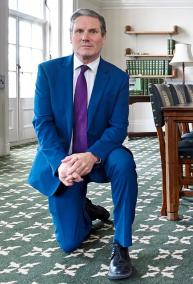 Labour leader Kier Starmer took the knee, in a gesture which was shared widely online