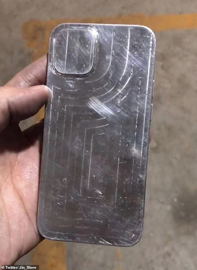 Back view of the iPhone 12. While @Jin_Store did not confirm the renders were definitely of the iPhone 12, nor where they came from, they do back up previous rumours of the device's shape