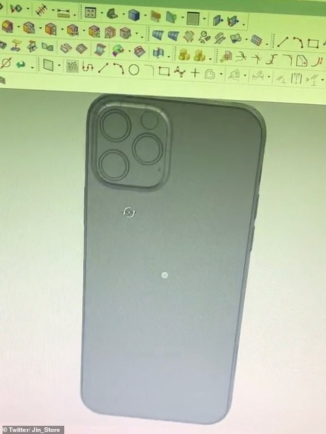 3D graphics indicate three rear cameras arranged in a similar fashion to those on the iPhone 11
