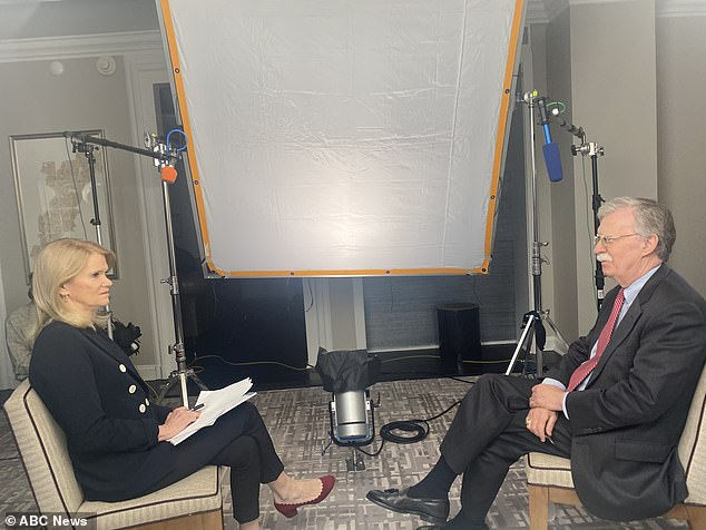ABC News' Martha Raddatz (left) will speak to John Bolton (right) for the first time about President Trump's July 25 call with Ukrainian PresidentVolodymyr Zelensky - the call that got Trump impeached by the House of Representatives in December