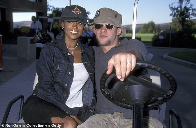 Former spouse: The New York City native is shown with former spouse Brian Lovell in 1999