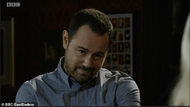 Naughty: viewers were led to believe that Phil Mitchell (Steve McFadden) would take over, but Mick Carter (Danny Dyer) managed to trick Walford's tough guy