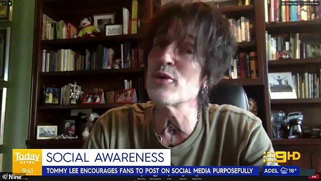 'Fun and silly!' Tommy Lee, 57, has expressed he's now 'actually having fun being silly' on TikTok after initially being 'dragged onto it' by wife Brittany Furlan, 33