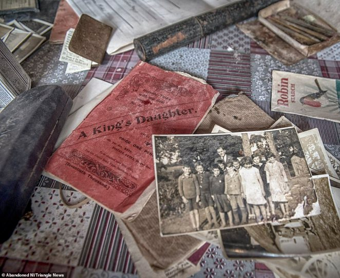 Brownlie found precious personal items, including photographs of people whose names remain unknown