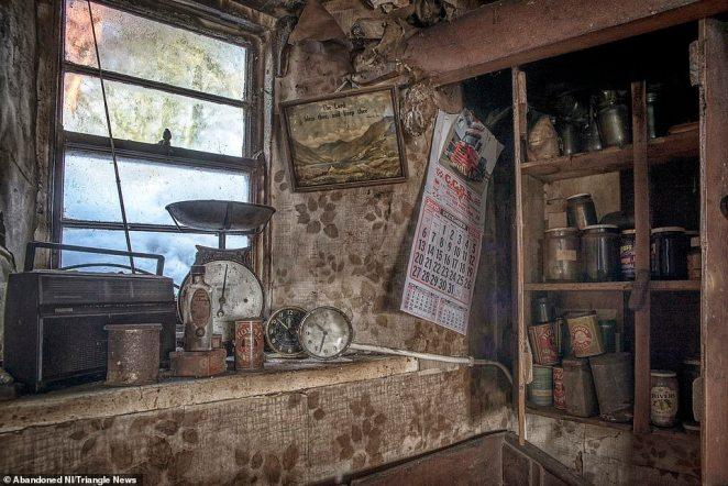 Kitchen: Brownlie found a transistor radio, scales, a calendar and kitchen supplies including unopened tins