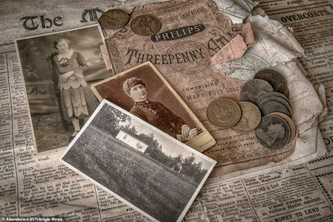 The farmhouse contained Victorian-era money and old newspaper clippings dating as far back as the 19th century