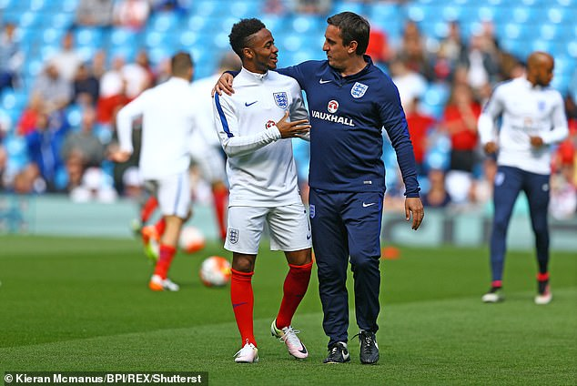 Neville was part of the training of the coaches of England to the Euro 2016 when Sterling approached him