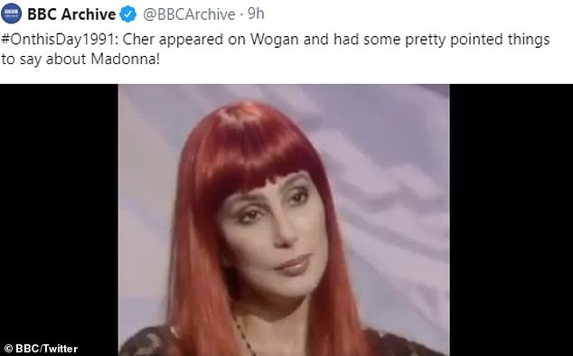 Means: In the clip, Cher, 74 years old, is grilled on Madonna, age 61, of Wogan, where she says that she is