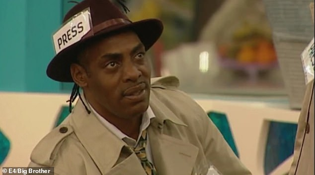 Uh oh: Elsewhere in the episode, rapper Coolio seemed to rub glamor model Lucy Pinder the wrong way by locking the horns on his impression of his alter-ego