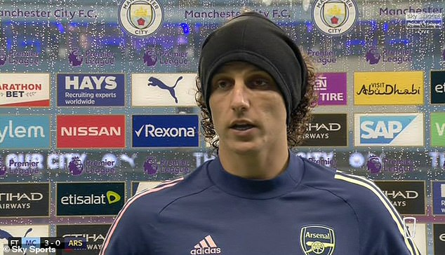 Luiz took full responsibility after his horror performance in the loss of Arsenal against Manchester City