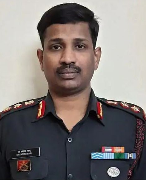 Colonel B Santosh Babu (photo) was one of the officers killed in the confrontation at the border with Ladakh. It was Colonel B. Santosh Babu, commander of the 16th Bihar regiment, who had made the first approach to the Chinese, in the hope of a discussion. His mother Manjula said,