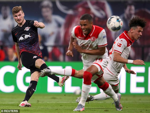 Werner scored his 26th goal in the Bundesliga this season Wednesday, before sealing his move