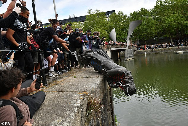 Edward Colston's statue was knocked down and thrown into the river at a Black Lives Matter protest rally in Bristol on May 25