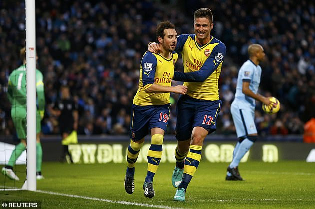Santi Cazorla and Olivier Giroud were there during Arsenal's last top six victory in 2015