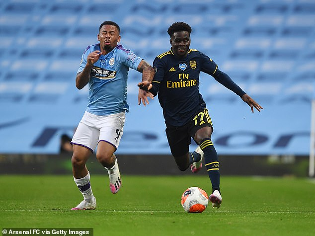 Young talented Bukayo Saka (right) is another whose contract expires next summer